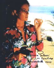 Luciana Paluzzi Autograph Signed Photo - Fiona Volpe